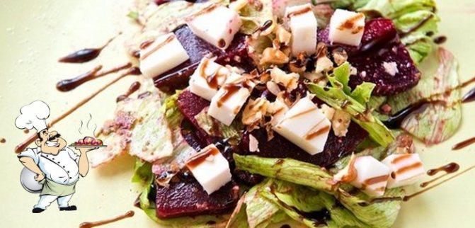 Салат из сырой свеклы с сыром