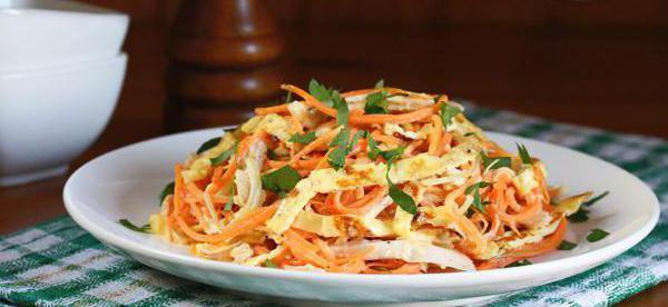 салат с омлетом и огурцом рецепт