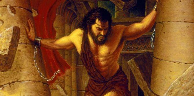 самсон разрушает храм врагов
