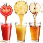 Самые полезные свежевыжатые соки: апельсиновый, томатный, ананасовый, яблочный, морковный