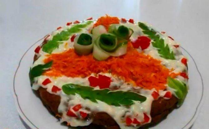 Самый вкусный печеночный торт, приготовленный в мультиварке