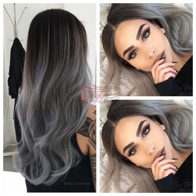 Седой цвет волос (18)