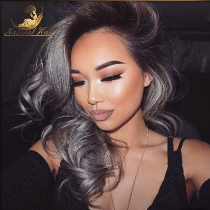 Седой цвет волос (24)