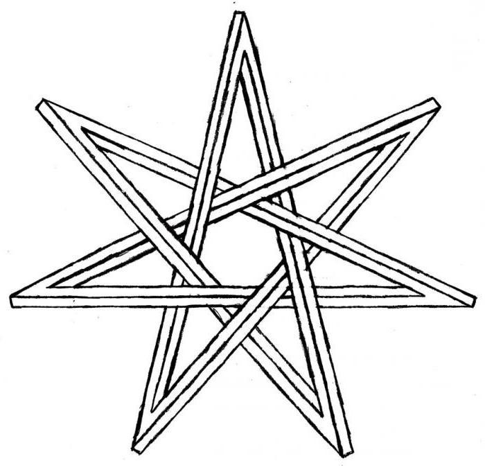 семиконечная звезда символ