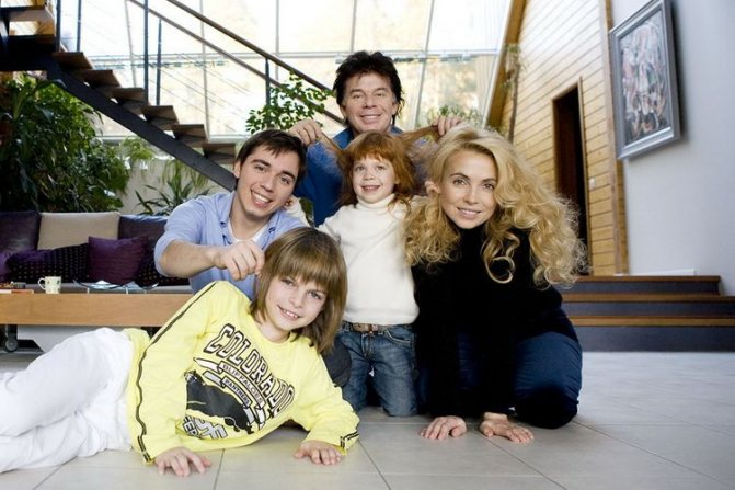 Семья Олега Газманова фото