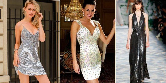 серебряные платья новый год 2019