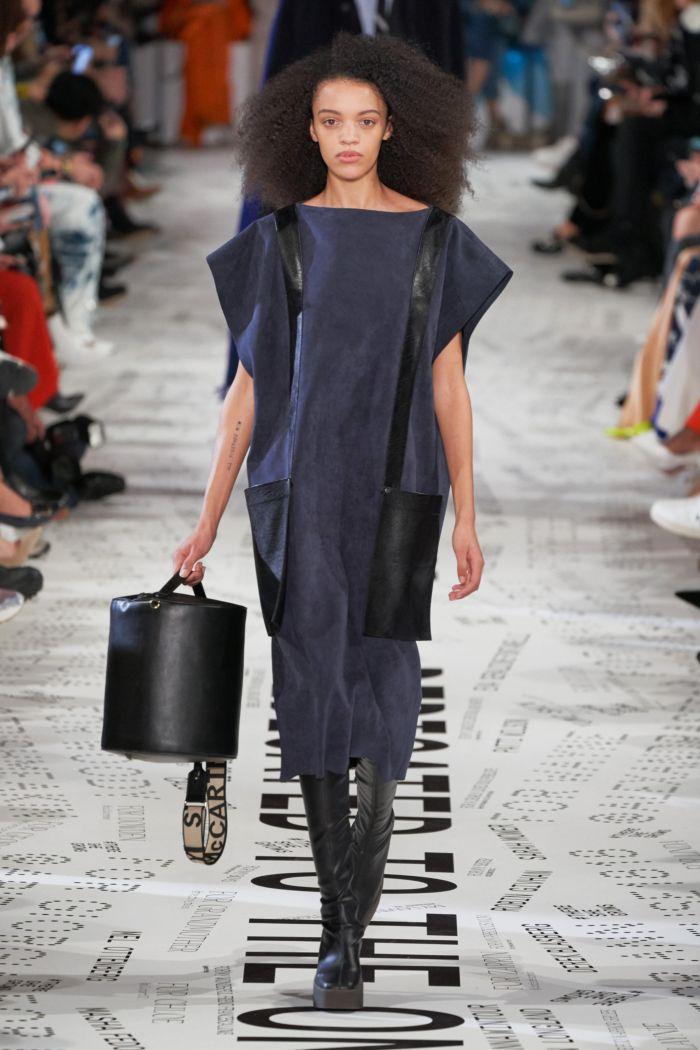 Серо-синие платье Stella McCartney
