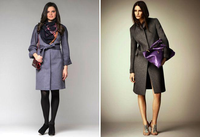 серое пальто аксессуары