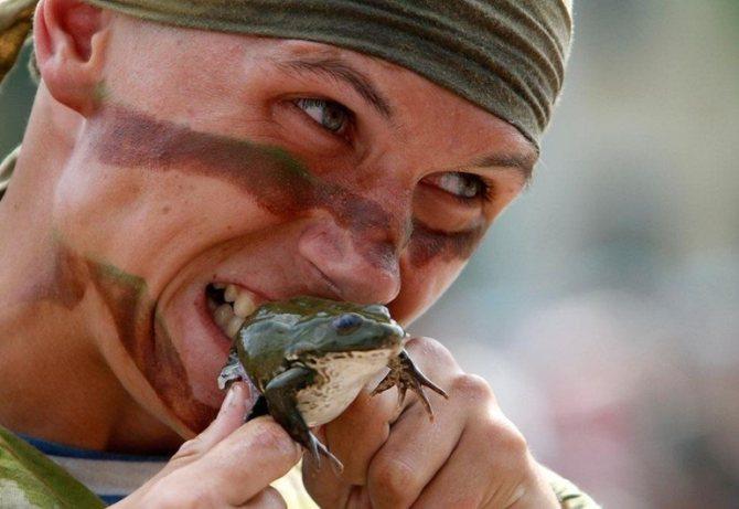Съесть лягушку