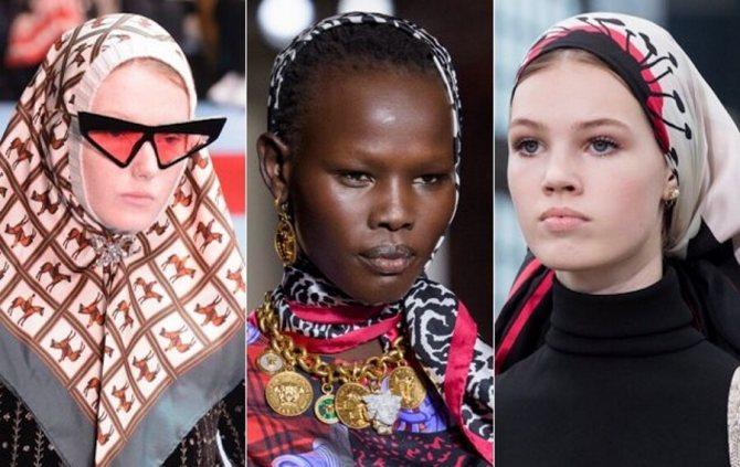 Сезон весна-лето 2019: модные женские шарфы и платки с фото
