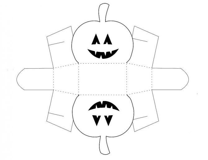 Шаблон объемной тыквы из бумаги