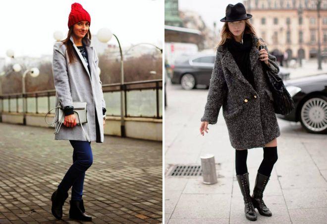 шапка к серому пальто