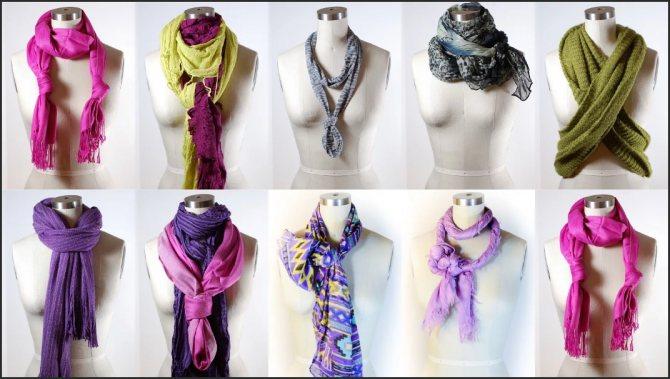 шарф как завязать