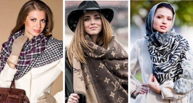 шарф разные цвета и фактуры