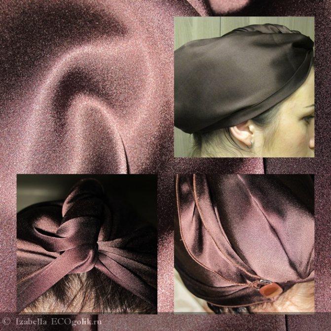 Шелковая чалма для ухода за волосами Шелковая мануфактура - отзыв Экоблогера Izabella