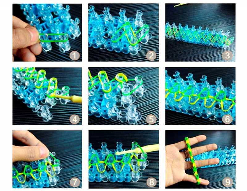 вязание резинками картинки предполагает