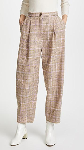 широкие брюки из твида