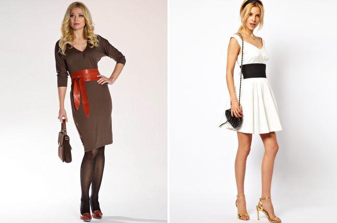 широкий пояс для платья