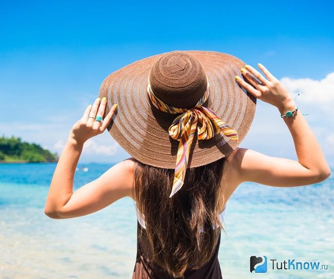 Шляпа для защиты волос от солнечных лучей