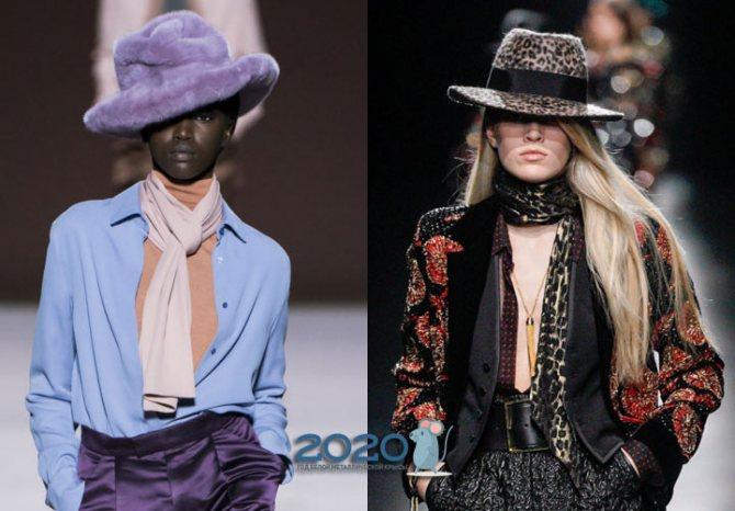 Шляпы и другие аксессуары сезона осень-зима 2019-2020