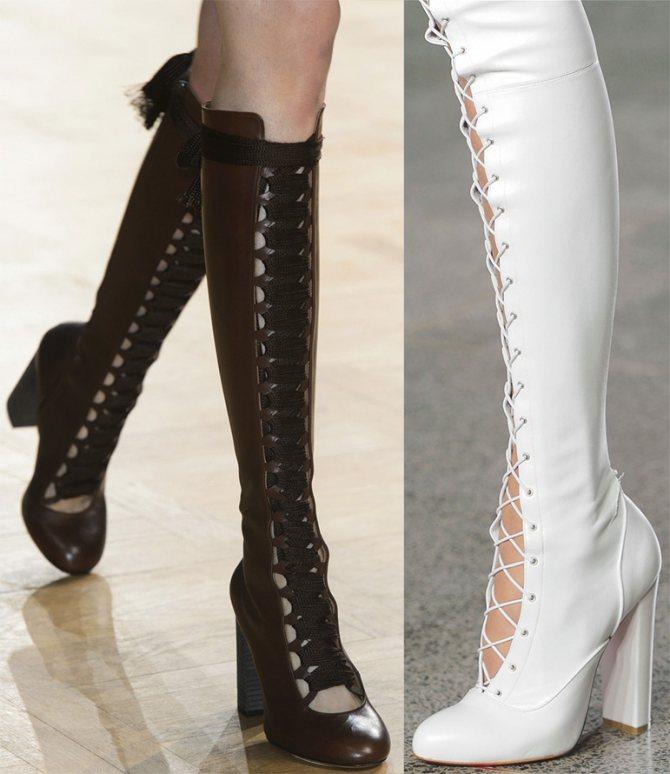 Шнуровка на обуви – тенденция моды