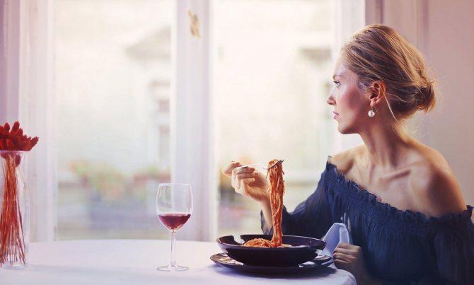 Сходить в ресторан и съесть любимое блюдо