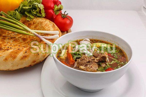 Шурпа по — узбекстки с овощами по классическому рецепту