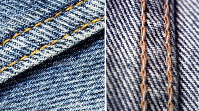 швы на джинсах