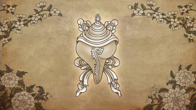 символы буддизма белая раковина