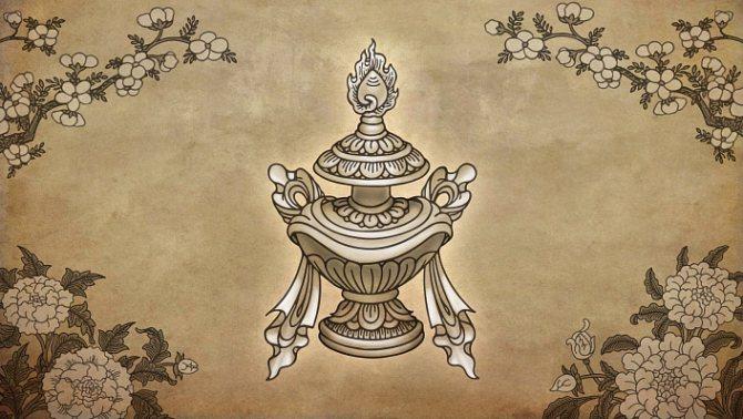 символы буддизма драгоценная ваза