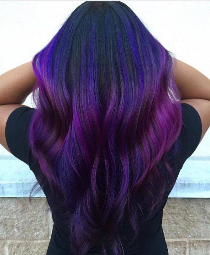 сине-фиолетовое омбре