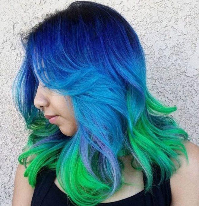 синние волосы