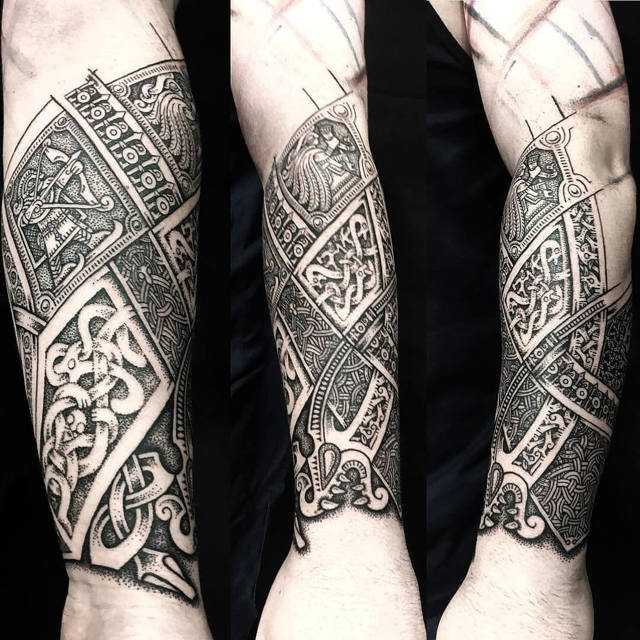 Скандинавские татуировки для мужчин: татуировки викингов и их значение (75 фото)