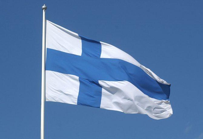 Скандинавский крест на флаге Финляндии