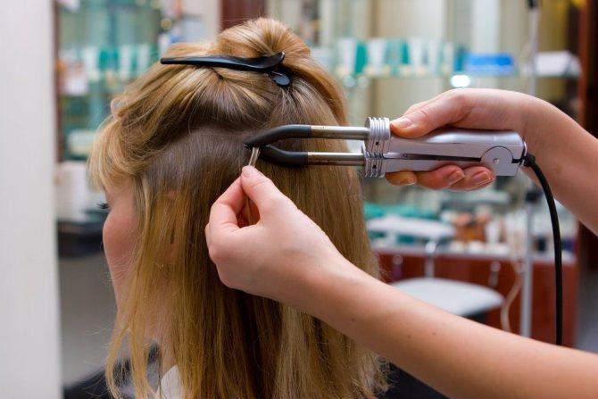 сколько держится наращивание волос горячим методом