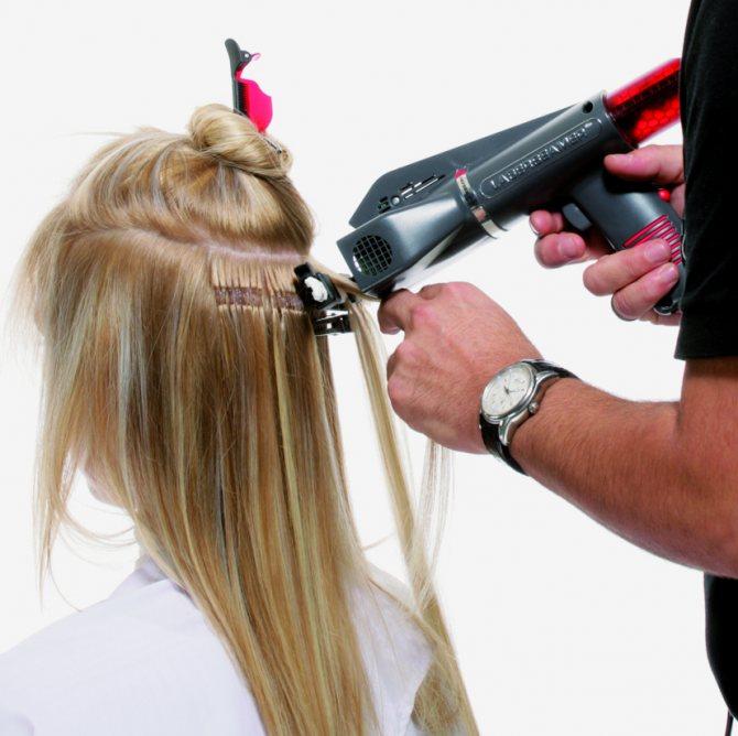 сколько держится ультразвуковое наращивание волос