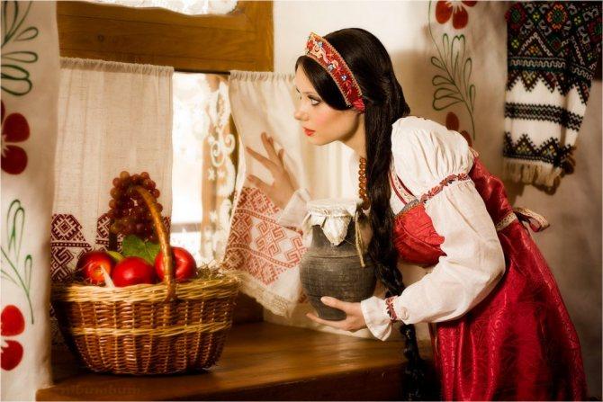 Славянские прически