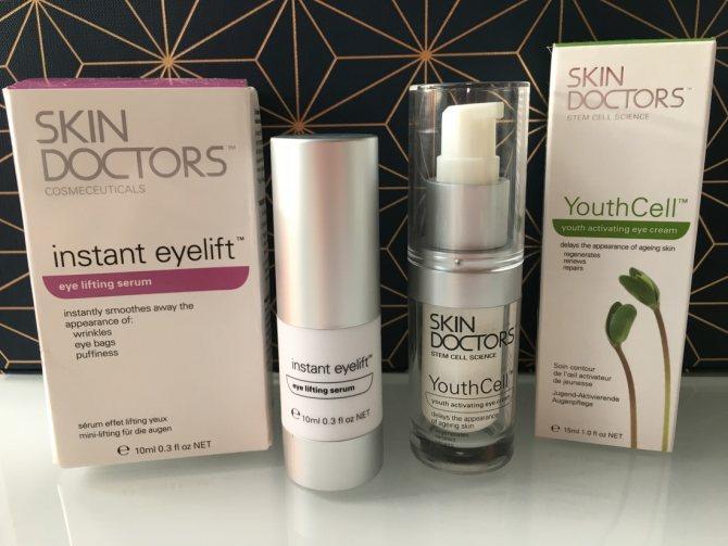 Слишком заметный лифтинг: крем и сыворотка для зоны вокруг глаз Skin Doctors