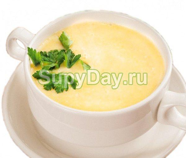 Сливочно - сырный суп-пюре с курицей