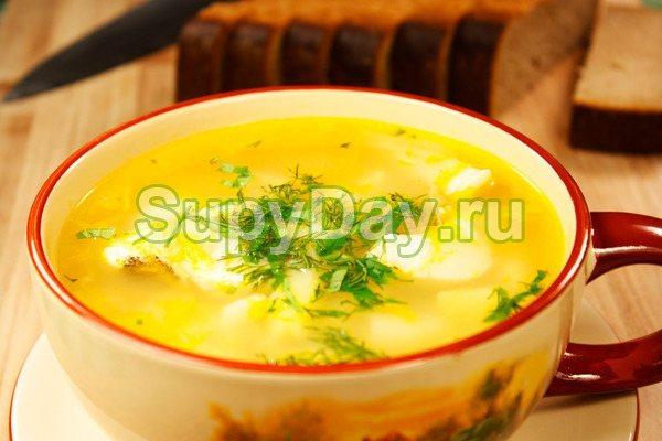 Сливочный суп с сайрой