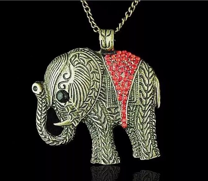 слон кулон