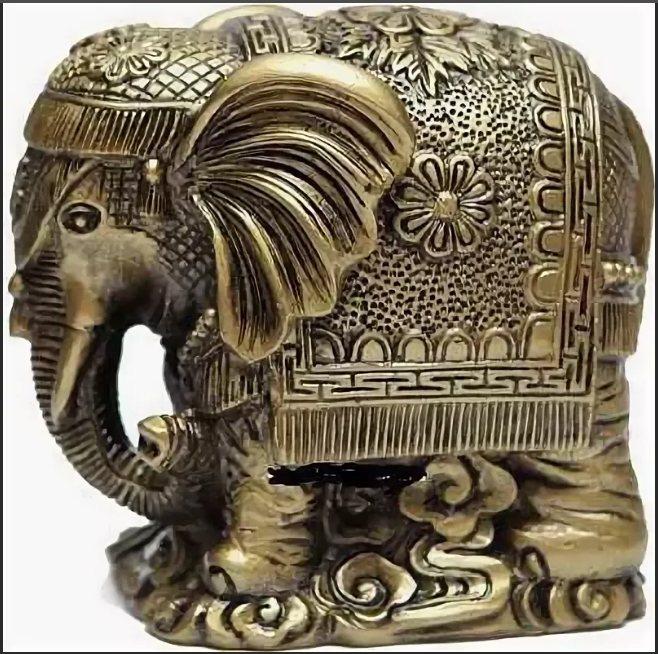 слон с опущенным хоботом