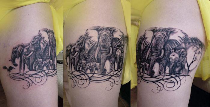 слон тату значения