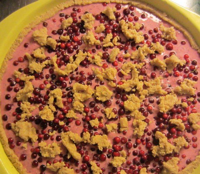 Сметанно-ягодный десерт