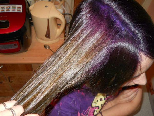 смывка фиолетового