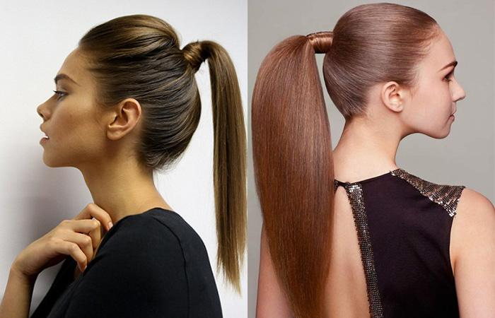 Соберите волосы в конский хвост