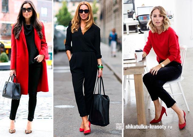 сочетание красного и черного