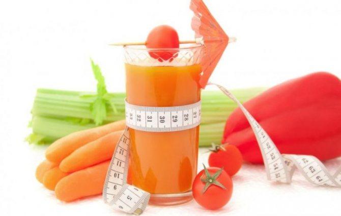 Сок моркови при похудении