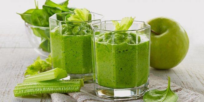 Соки из зелени