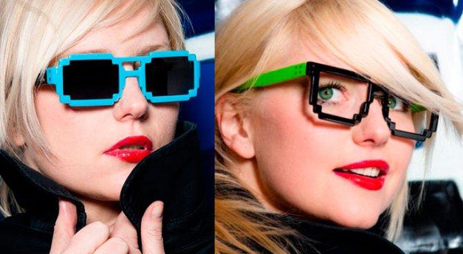 Солнцезащитные очки в пиксельной оправе приобрели в текущем сезоне особую популярность